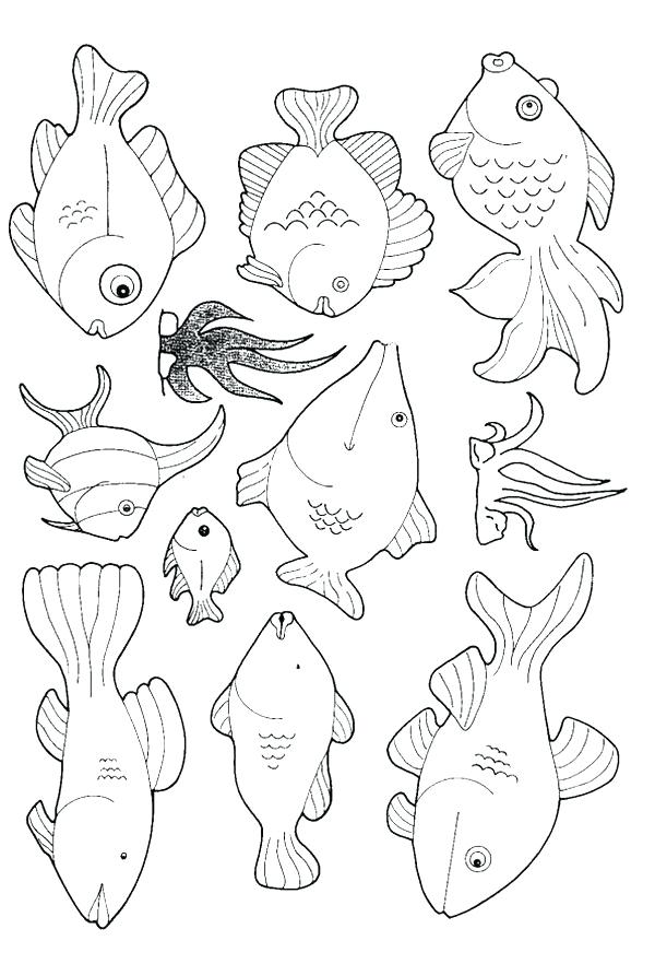 600x882 Ocean Fish Coloring Pages Medium Size Of