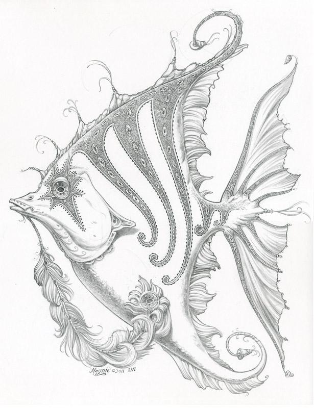 615x800 Angel Fish Drawing Drawing Ref Pics Angel Fish