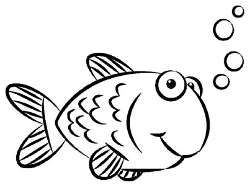 1024x773 Simple Fish Drawing Animals ~ Simple Fish Drawing For Kids Clip
