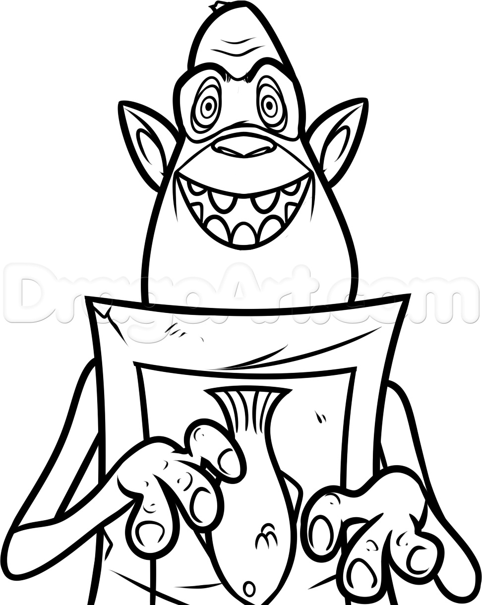 972x1220 How To Draw Fish From The Boxtrolls, Step By Step, Characters, Pop