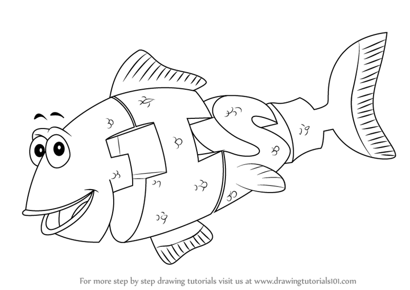 800x566 Learn How To Draw Fish From Wordworld (Wordworld) Step By Step