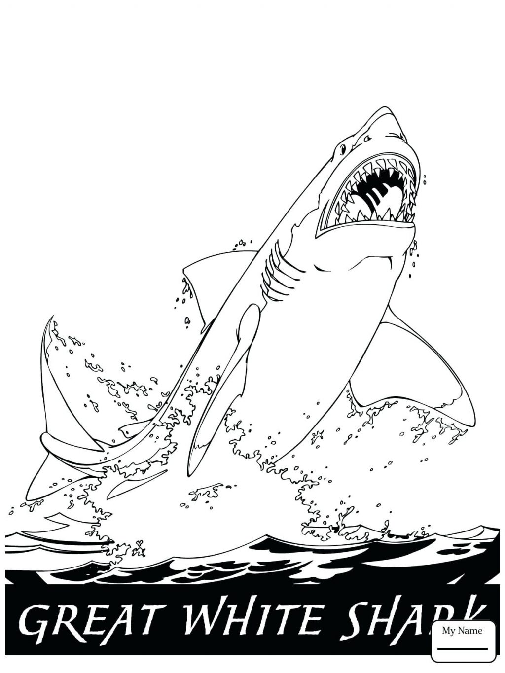 1024x1365 Coloring Page Great White Shark Coloring Page. White Tip Shark