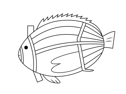 Fish Line Drawing