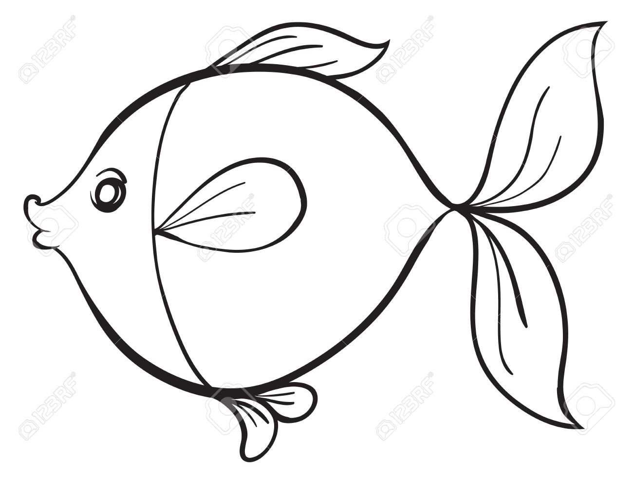 Simple Fish Line Art : Fish line drawing at getdrawings free for personal
