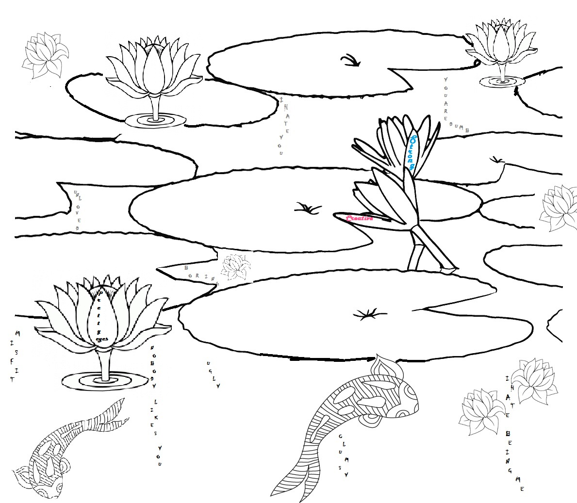 Fish Pond Drawing at GetDrawings.com | Free for personal use Fish ...