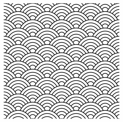 425x421 Seamless Fish Scale Pattern (Vector) Graphics Graphics