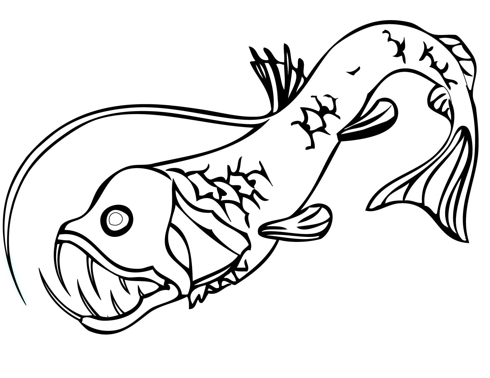 Fish Skeleton Drawing at GetDrawings.com | Free for personal use ...