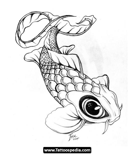 540x614 Drawn Koi Fish Baby