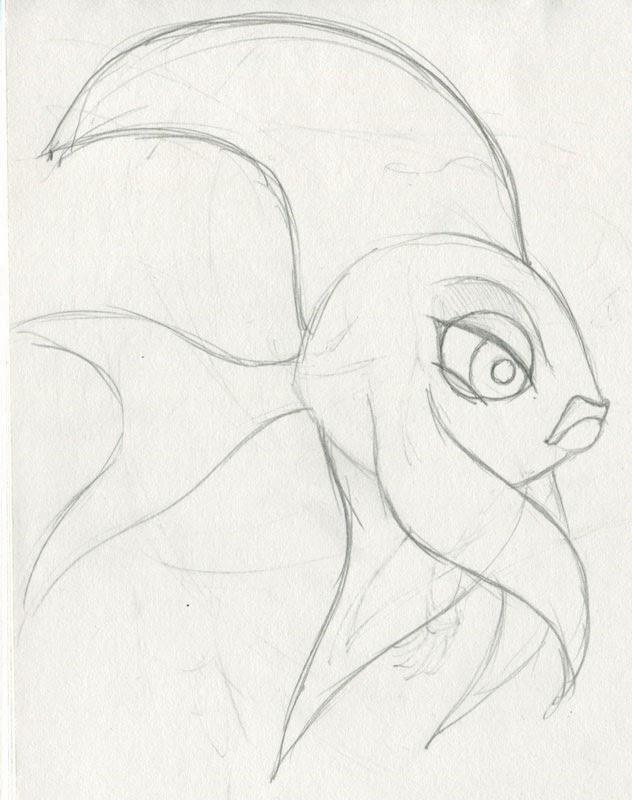 632x800 Amber's Brain! Daily Sketch Fish