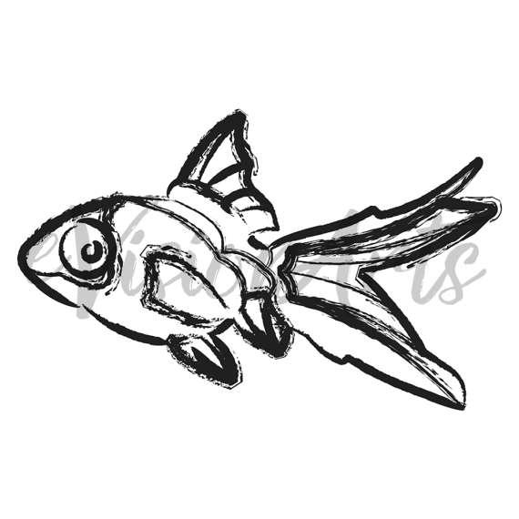 570x570 Fish Sketches Clipart Sketched Fish Clip Art Fish Clipart