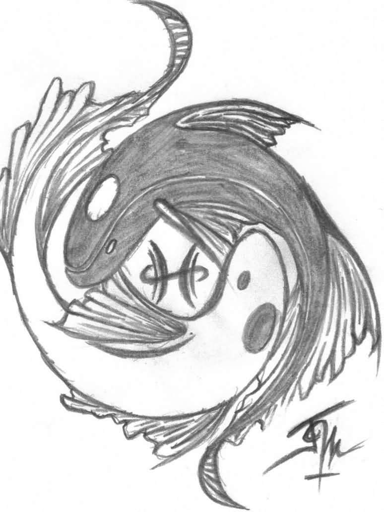 774x1031 Collection Of Koi Fish Pisces And Celtic Tattoos Sketch