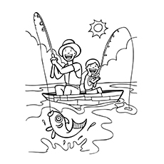 free fishing pole coloring pages - photo#39