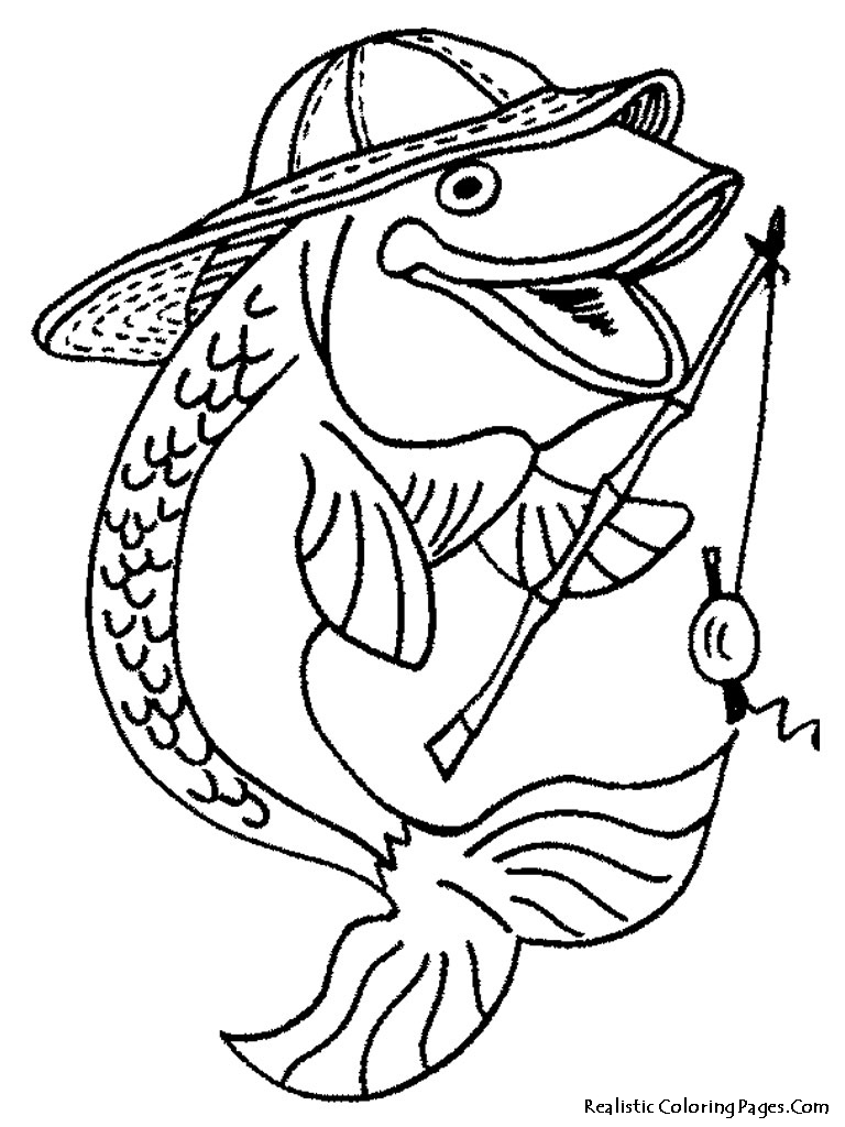 768x1024 Fisherman Fish Printable Kids Coloring Pages Coloring Pages