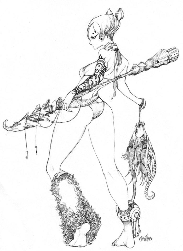 764x1046 Fisherman Lady By Elsevilla