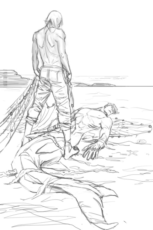 500x750 Pencilled This During Livestream! Fisherman Rin Discovers