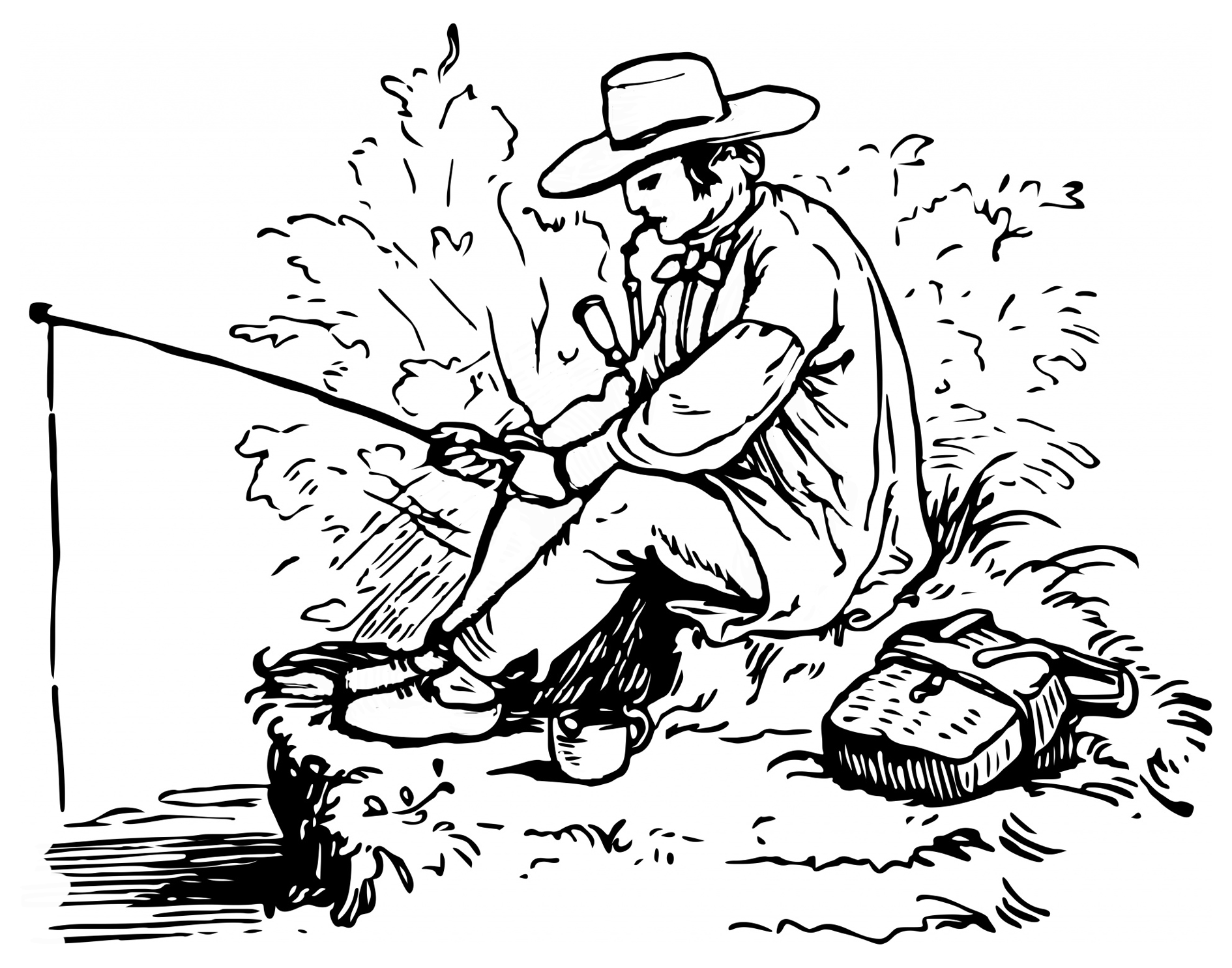 Fisherman Drawing at GetDrawings.com | Free for personal use ...