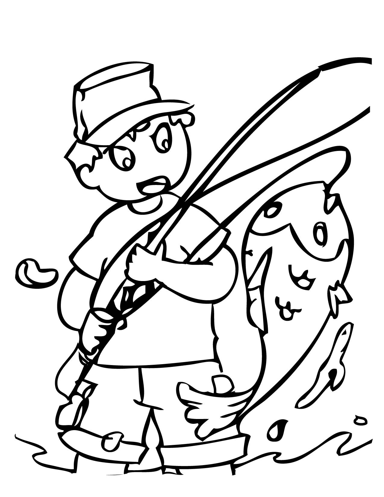 1275x1650 Fishing Color Pages Free Draw To Color