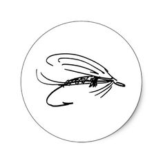 236x236 Fly Fishing Lure Art Round Sticker By Brooktroutdesign Fly Art
