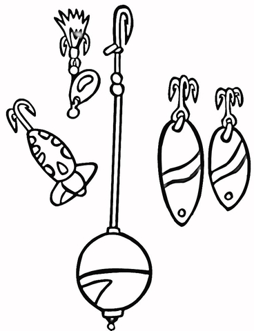 368x480 Lures And Floats Coloring Page Free Printable Coloring Pages