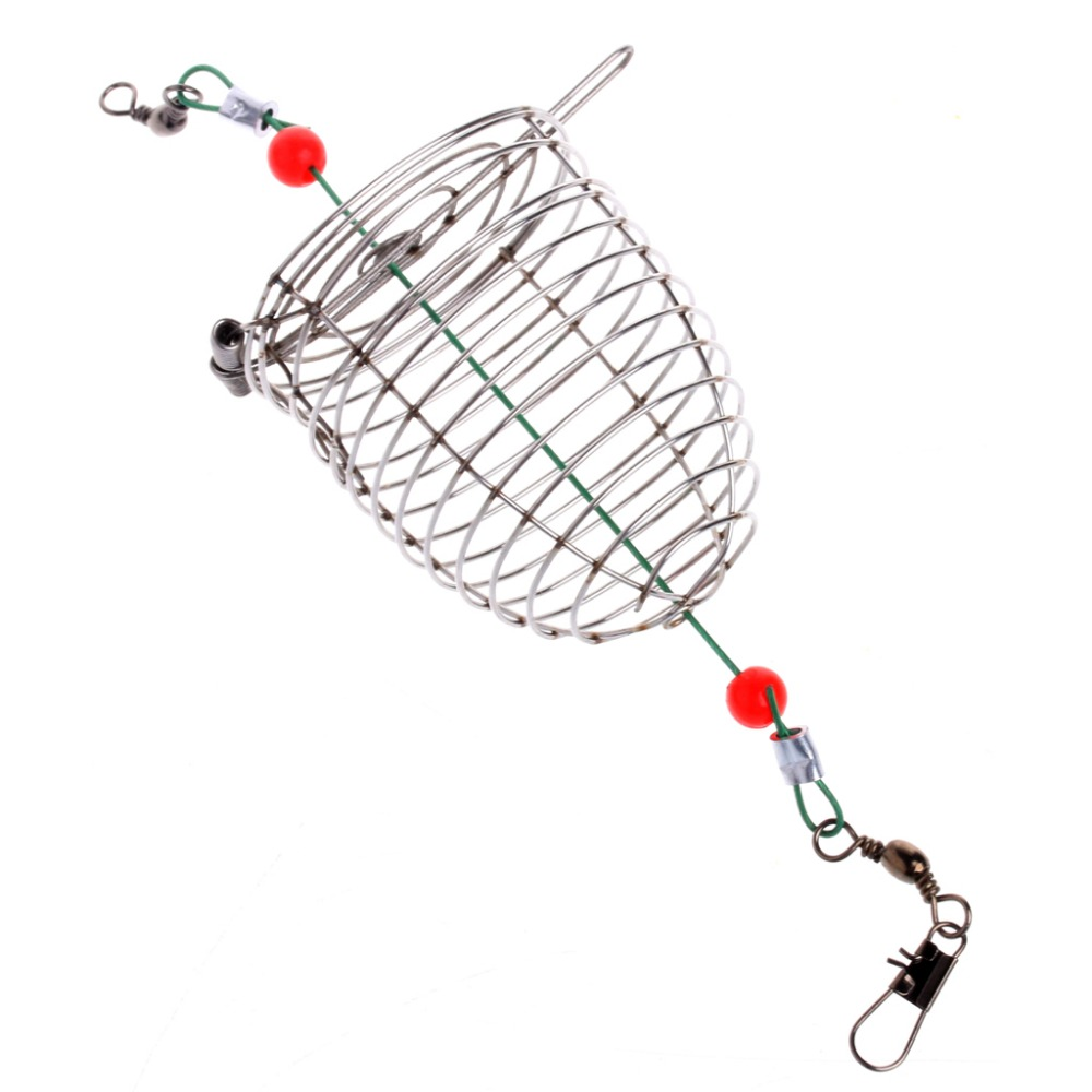 1000x1000 Mini Small Bait Cage Fishing Trap Basket Feeder Holder Stainless