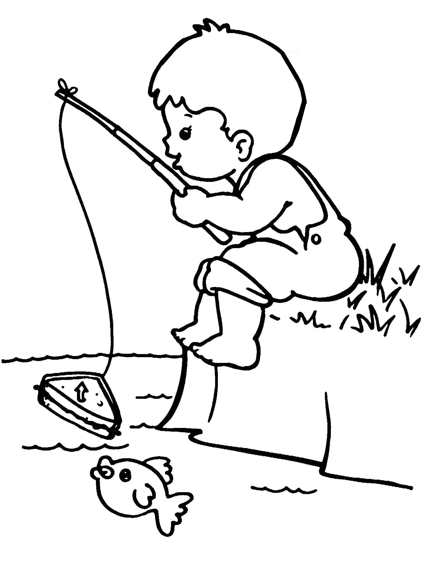 1478x2000 Fishing Color Pages Free Free Draw To Color