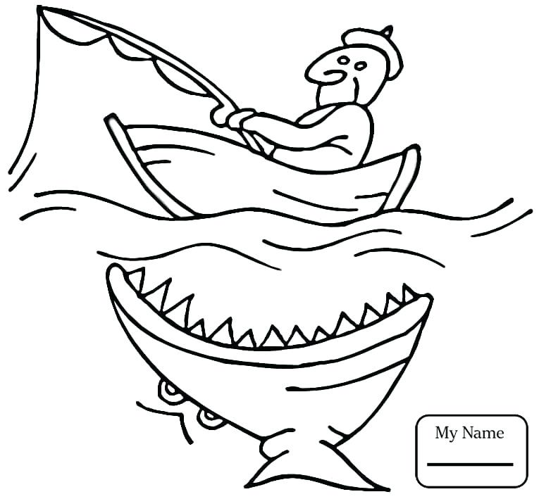 765x709 Fishing Coloring Pictures Genesisar.co