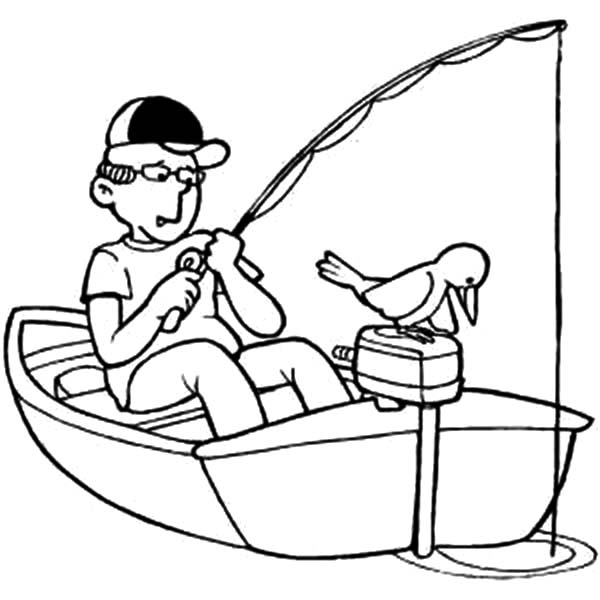 600x600 Fishing Boat Coloring Pages Mercial