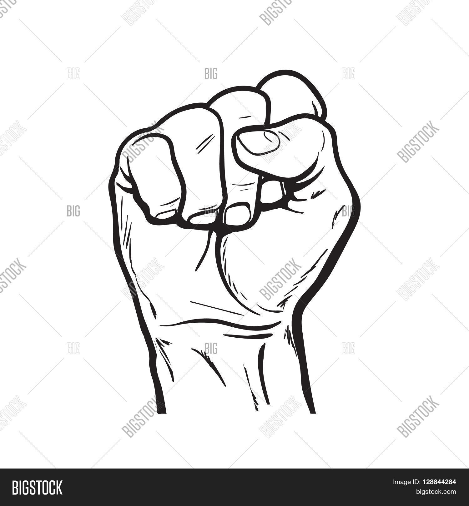 1500x1620 Drawing Of A Fist Drawn Fist Clenched Fist
