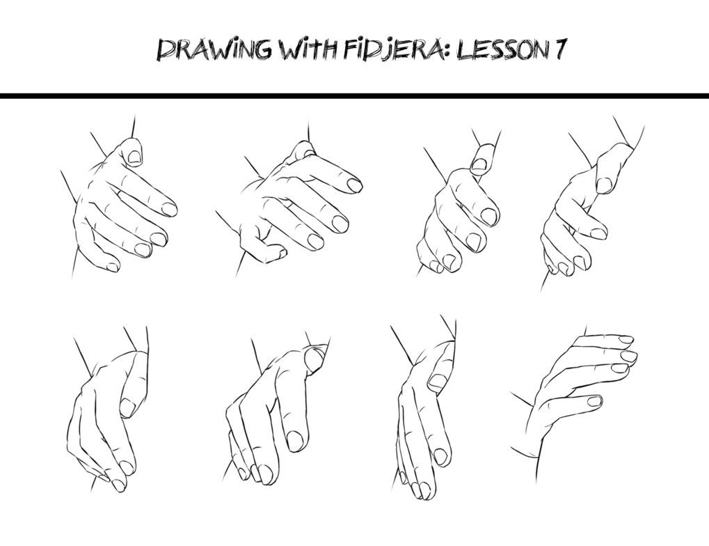This is a picture of Striking Hands On Hips Pose Drawing
