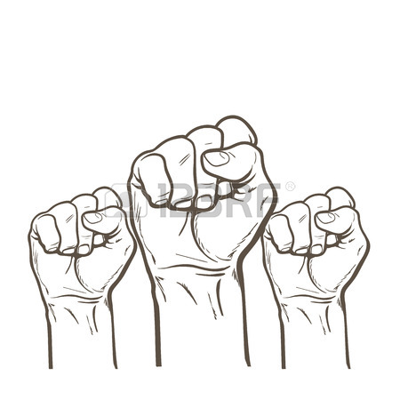 450x450 Clenched Fist. Hand Clenched Fist. Royalty Free Cliparts, Vectors