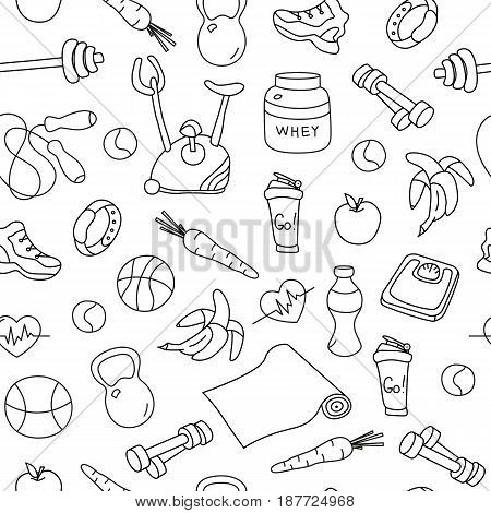450x470 Seamless Pattern Isolated Fitness Vector Amp Photo Bigstock