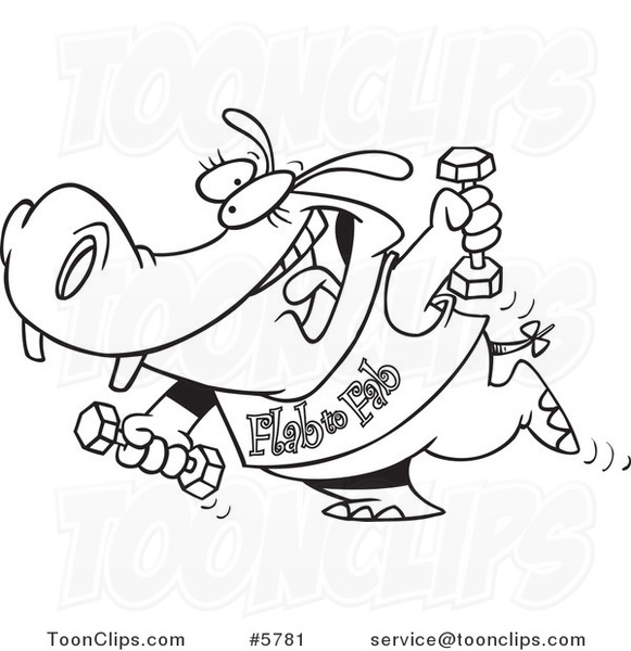 581x600 Cartoon Black And White Line Drawing Of A Flab To Fab Fitness