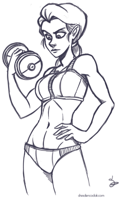 462x750 Warmup Drawing Did You Know That Vonnie Was Buff It's True! She