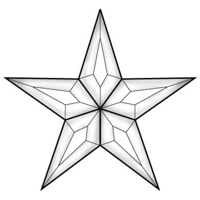 Five Point Star Drawing At Getdrawings Free For Personal Use