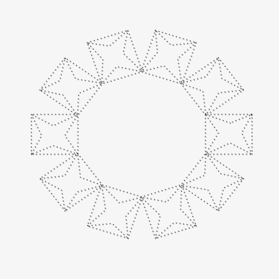 550x550 Dotted Line Five Pointed Star Pattern, Dotted Line, Virtual Points