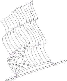236x284 United States Flag Drawing United States Flag Waving Drawing
