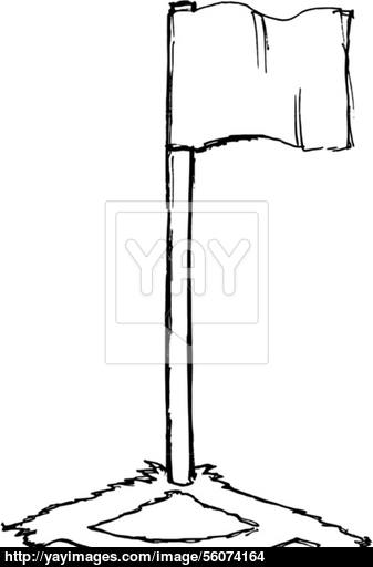 337x512 soccer corner flag vector