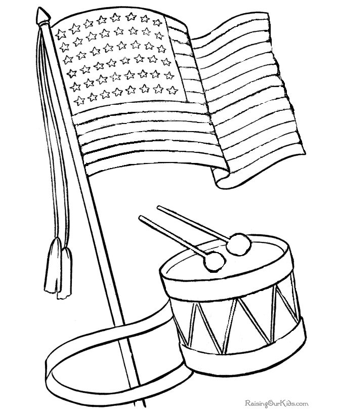 Flag In The Wind Drawing
