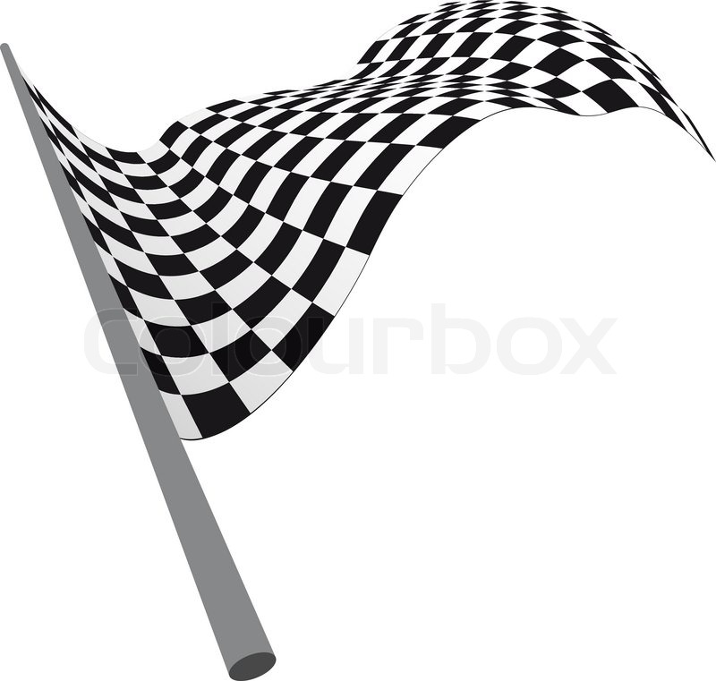 800x761 Black And White Checked Racing Flag Vector Illustration Stock