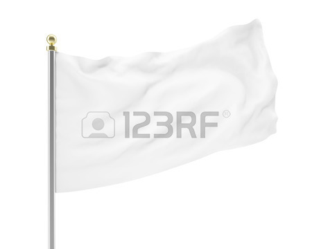 450x360 Hang Down White Blank Cloth Banner Isolated On White Background