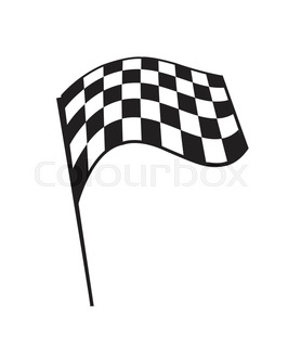 266x320 A Wavy And Grunged Checkered Flag Design Isolated On White