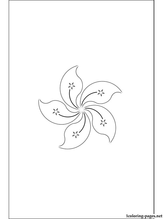 560x750 Hong Kong Flag Coloring Page Coloring Pages