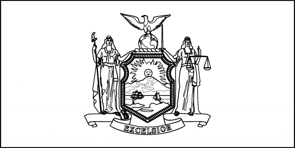 1024x515 Coloring Page ~ New York Coloring Pages Download State Flag Line