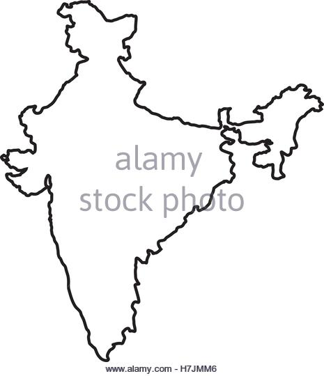 465x540 Indian Flag Map Illustration Black And White Stock Photos Amp Images