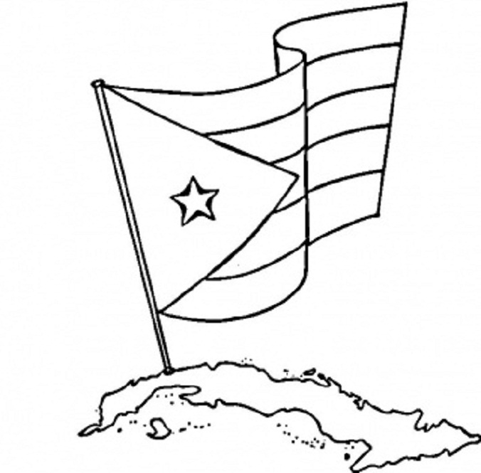 676x665 National Flag Of Cuba To Color Free Coloring Pages