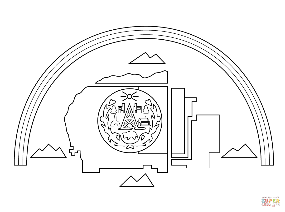 1199x894 Navajo Nation Flag Coloring Page Free Printable Pages