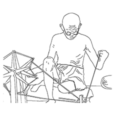 gandhiji standing coloring pages - photo#41
