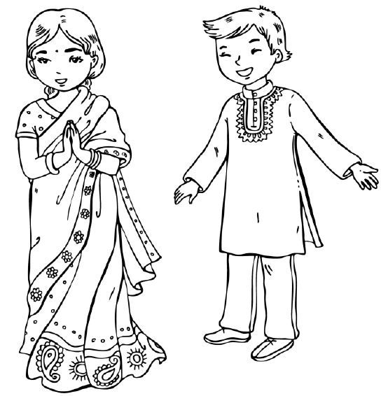 544x566 Download India Coloring Page