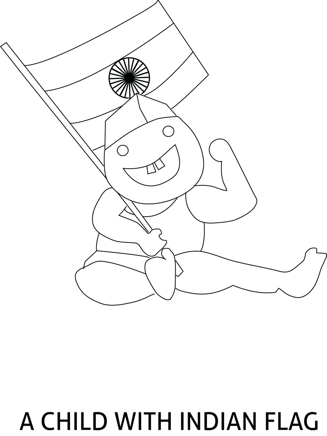 1051x1400 Coloring India Flag Coloring Page Pages For Kids A Print Indian