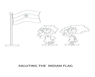 400x322 India Coloring Page